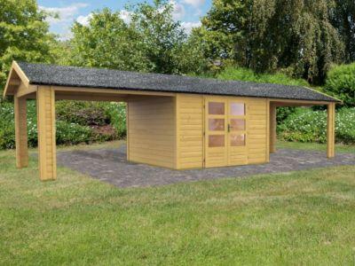 Woodfeeling Tastrup 7 Gartenhaus, inkl. 2 Dachausbauelementen | Garten > Gartenhäuser | Woodfeeling