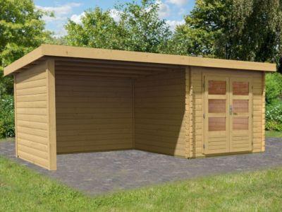 Woodfeeling Bastrup 4 Gartenhaus, mit Schleppdach, Seiten-und Rückwand
