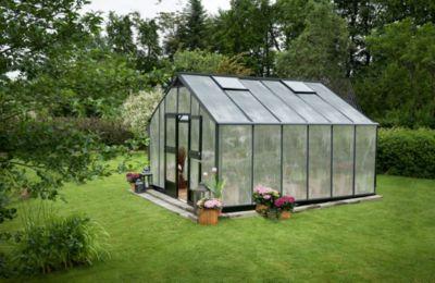 Juliana Gärtner 16,1 m² Gewächshaus, mit 10 mm Hohlkammerplatten - anthrazit | Garten > Gewächshäuser | JULIANA
