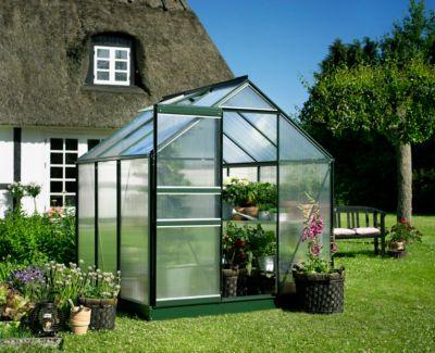 Popular 66 3,8 m² Gewächshaus mit 4 mm Hohlkammerplatten - grün