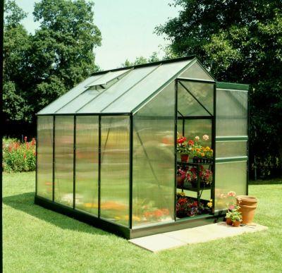 Popular 86 5,0 m² Gewächshaus mit 4 mm Hohlkammerplatten - grün