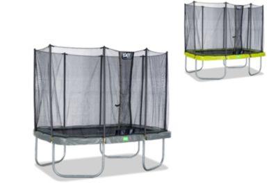 Twist Rechteckig Trampolin 214x305 grün/grau