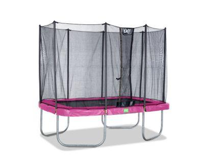 Twist Rechteckig Trampolin 214x305 rosa/grau