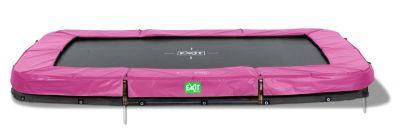 Twist Ground Rechteckig Trampolin 214x305 rosa/grau