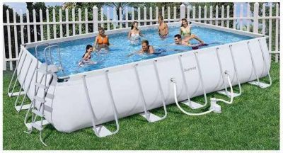 Bestway Frame Pool Power Steel Set, 671cm x 366cm x 132cm, Schwimmbad
