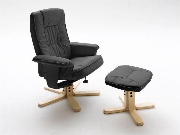 relaxsessel dallas inkl hocker mca kunstleder. Black Bedroom Furniture Sets. Home Design Ideas