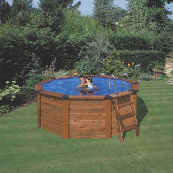 gre island nature pool rund stahlwandbecken set mit massivholzverkleidung pools ebay. Black Bedroom Furniture Sets. Home Design Ideas