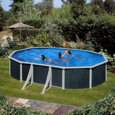 Gre  Barbados Dream Pool oval 730 x 375 x 120 cm Stahlwandbecken-Set