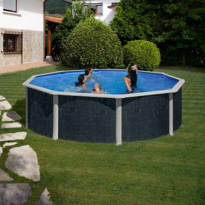 Gre  Barbados Dream Pool rund Ø 460 x 120 cm Stahlwandbecken-Set