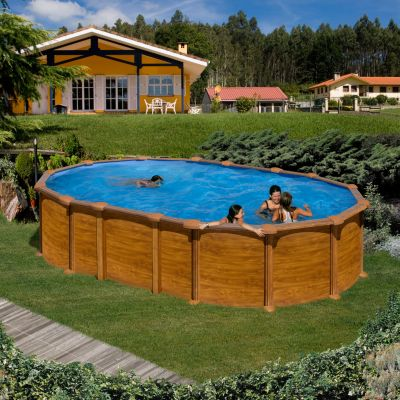 Gre  Amazonia Dream Pool oval 610 x 375 x 132 cm Stahlwandbecken-Set