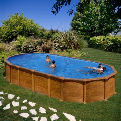 Gre  Amazonia Dream Pool oval 730 x 375 x 132 cm Stahlwandbecken-Set