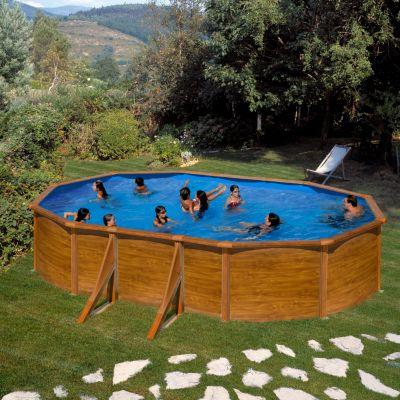 Gre  Galapagos Dream Pool oval 610 x 375 x 120 cm Stahlwandbecken-Set