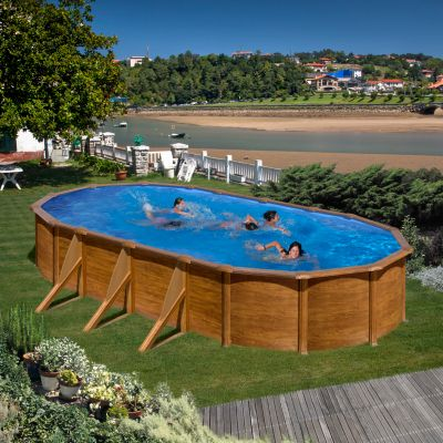 Gre  Galapagos Dream Pool oval 730 x 375 x 120 cm Stahlwandbecken-Set