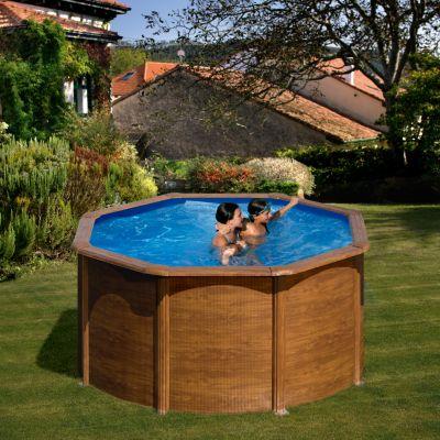 Gre  Galapagos Dream Pool rund Ø 240 x 120 cm Stahlwandbecken-Set