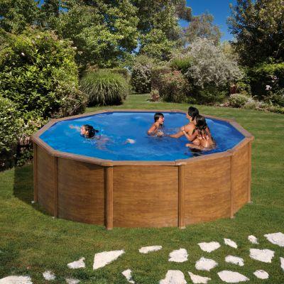 Gre  Galapagos Dream Pool rund Ø 460 x 120 cm Stahlwandbecken-Set
