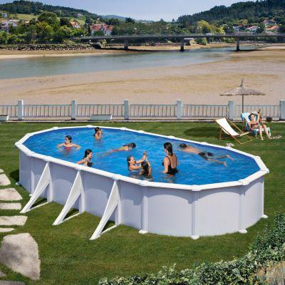 Gre  Atlantis Dream Pool oval 730 x 375 x 132 cm Stahlwandbecken-Set