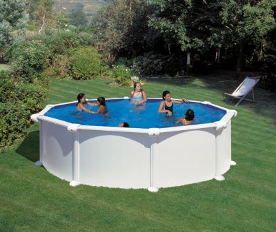 Gre  Atlantis Dream Pool rund Ø 460 x 132 cm Stahlwandbecken-Set