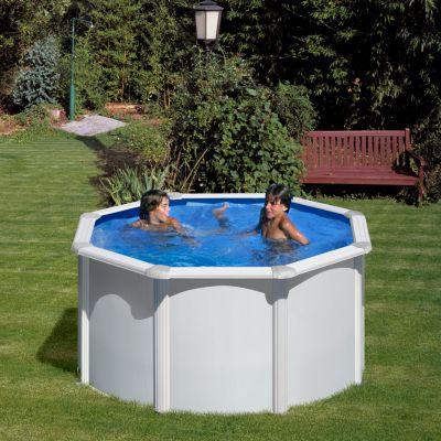 Gre  Bali Dream Pool rund Ø 240 x 120 cm Stahlwandbecken-Set