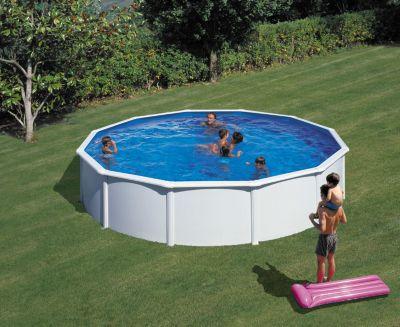 Gre  Bali Dream Pool rund Ø 550 x 120 cm Stahlwandbecken-Set