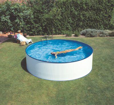 Gre  Gran Canaria Dream Pool rund Ø 350 x 120 cm Stahlwandbecken-Set