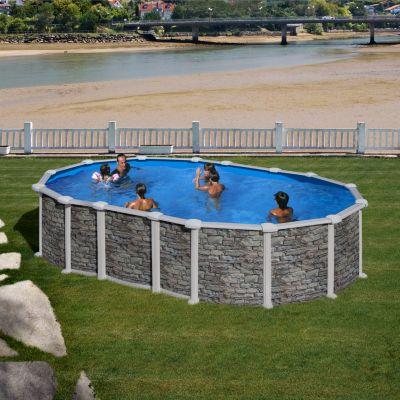 Stahlwand pool oval 150 preisvergleich die besten for Stahlwandbecken obi