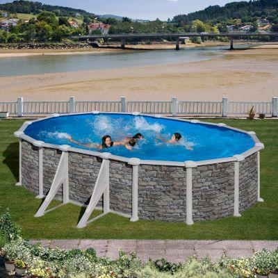 Gre  Corcega Dream Pool oval 610 x 375 x 132 cm Stahlwandbecken-Set