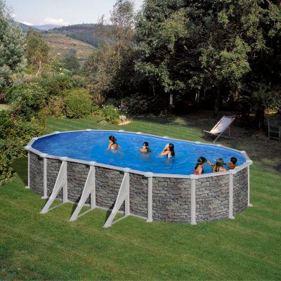 Gre  Corcega Dream Pool oval 730 x 375 x 132 cm Stahlwandbecken-Set
