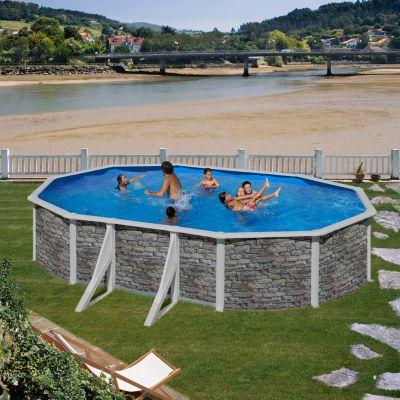 Gre  Cerdana Dream Pool oval 610 x 375 x 120 cm Stahlwandbecken-Set