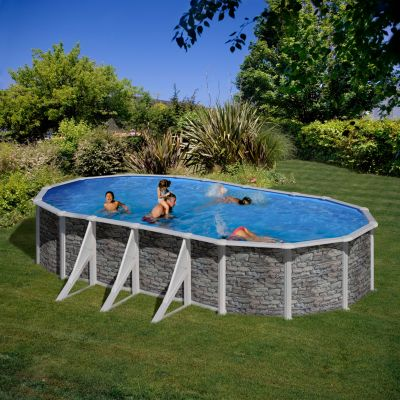 Gre  Cerdana Dream Pool oval 730 x 375 x 120 cm Stahlwandbecken-Set