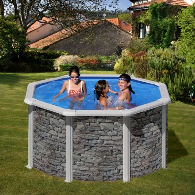 Gre  Cerdana Dream Pool rund Ø 240 x 120 cm Stahlwandbecken-Set