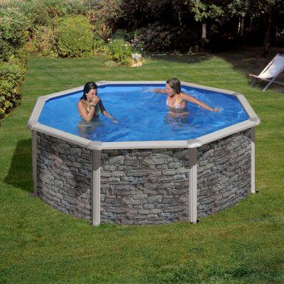 Gre  Cerdana Dream Pool rund Ø 460 x 120 cm Stahlwandbecken-Set