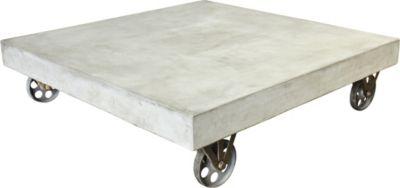 SIT Couchtisch Cement 9974 auf Metall-Rollen, 80 x 80cm