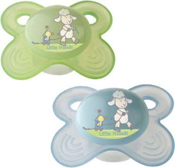 Einschlafberuhigungssauger 2er Set babybleu/ vanille/ lindgrün mit Box