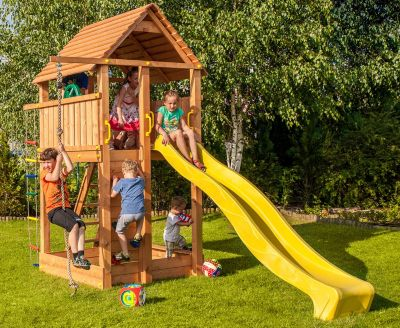 fungoo Fungoo FORTRESS Spielturm mit 2,9 m Rutsche