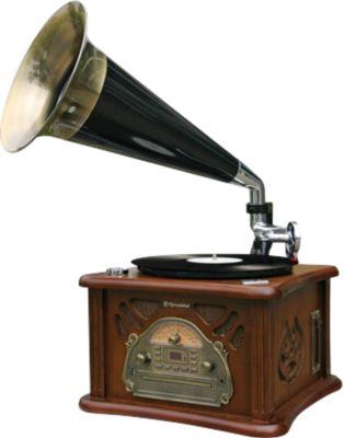 HIF-1850TUMPK Retroplattenspieler mit CD, MP3, Kassette und Radio