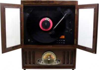 NR600 Nostalgie Stereo Musikcenter mit Vertical Plattenspieler