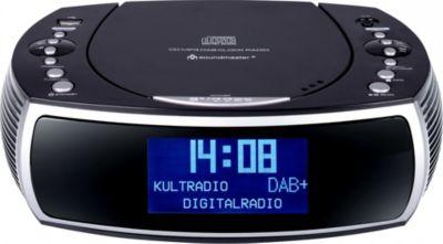 Soundmaster URD470SW DAB+/UKW Digitaluhrenradio mit CD/MP3 und USB - schwarz