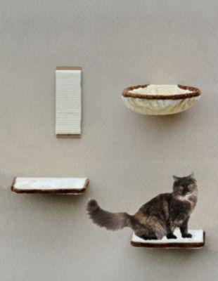 Silvio Design Katzen-Kletterwand beige-braun
