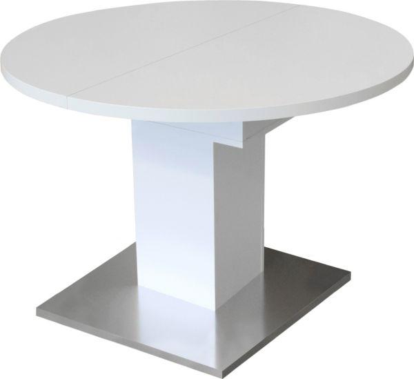 m usbacher runder esstisch 104cm ausziehbar esstisch. Black Bedroom Furniture Sets. Home Design Ideas