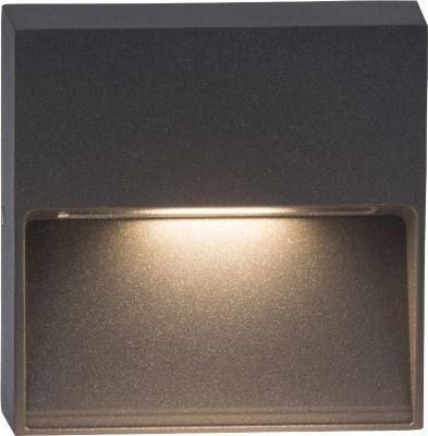 AEG  LED Wandaufbauleuchte Front, Aluminium, IP54, Nanotechnologie, 3 W