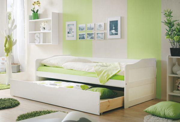 ticaa sofabett mit schubkasten marina kinderbett tagesbett g stebett bett ebay. Black Bedroom Furniture Sets. Home Design Ideas