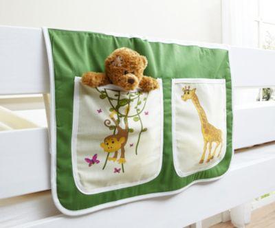 Ticaa Bett-Tasche für Hoch- und Etagenbetten Safari