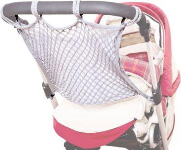 universales Kinderwagennetz mit Anker und Sichtschutz Grau