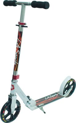 "LA Sports Scooter ""Leisure 200 Black"", ABEC7, 100% Alu, foldable, kick-stand"