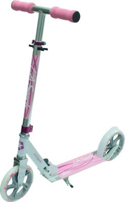 "LA Sports Scooter ""Leisure 200 Pink"", ABEC7, 100% Alu, foldable, kick-stand"