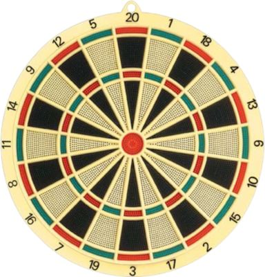 Soft Dartboard 37,5cm, 6 Darts & 6 Extra Tips
