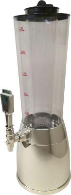 Benedomi  Getränkesäule chrom bis zu 4 Liter mit Kühlröhre und LED