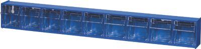 BRB Lagertechnik BRB Klappkasten Gehäuse mit 9 Klarsichtboxen