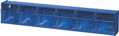 BRB Lagertechnik BRB Klappkasten Gehäuse mit 6 Klarsichtboxen