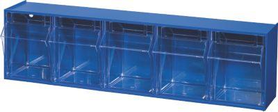 BRB Lagertechnik BRB Klappkasten Gehäuse mit 5 Klarsichtboxen